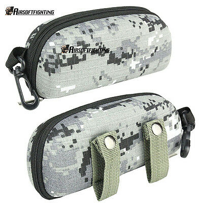 Outdoor Sport Camouflage Tactical Sunglasses Case Goggles Glasses Box EVA Gray