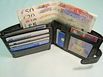 Gents Leather Wallet for 12 Credit Cards and Photo Space