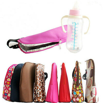 Baby Thermal Insulation Bags for Feeding Bottle Warmer 300-350ML Hang Stroller