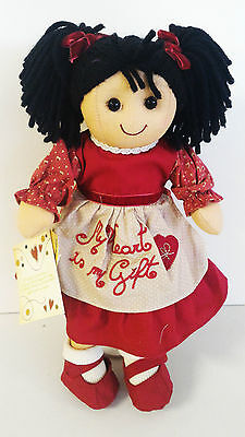 "Bambola My Doll MINI abito rosso e grembiule ""My heart is my Gift"" DW001"