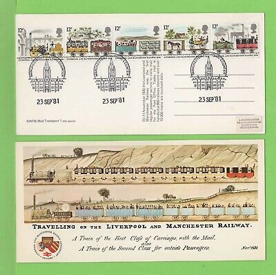 GB 1981 Liverpool & Manchester Railway Commemorative Picture Postcard Manchester