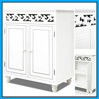 White Shabby Chic Sideboard Cupboard Wood Cabinet Freestanding Storage Furniture