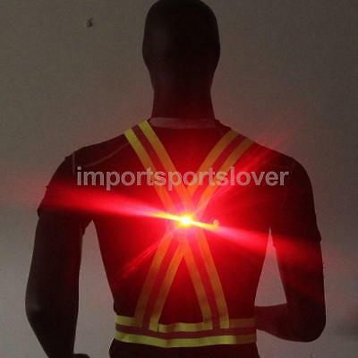 Reflective Vest Harness High Visibility Running Walking Cycling Safety & LED