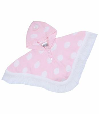 BABYPREM Baby Girls Clothes Pink Spotted Hooded Poncho Cardigan Wrap 0 m - 24 m