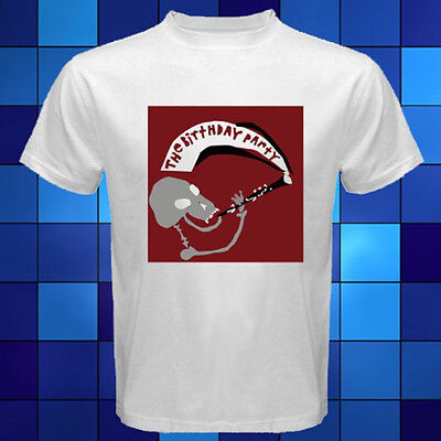 New The Birthday Party - Mr. Clarinet Punk Rock Band White T-Shirt Size S - 3XL