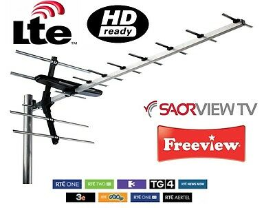 High Quality 12 Element Digital Wideband Aerial HD Freeview & Saorview Irish TV