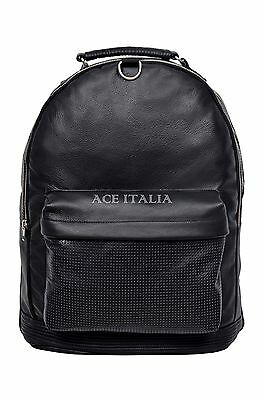 Deluxe New Unisex Backpack Black 1005 Duffle Travel Gym Real Genuine Leather Bag
