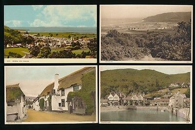 Somerset PORLOCK x7 collection c1920/50s PPCs