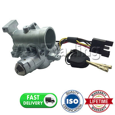 Ignition Switch Lock + Cable + Housing + 2 Keys For  Ford Transit 1994-2000