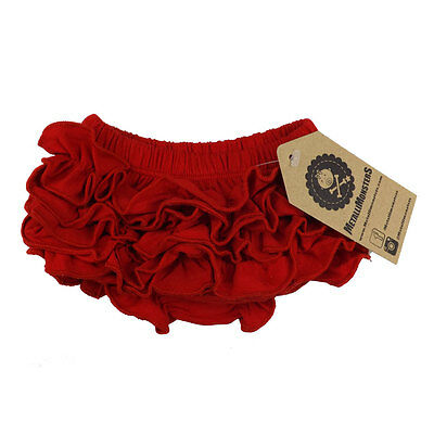 Metallimonsters plain red ruffle baby bloomers alternative rock metal goth