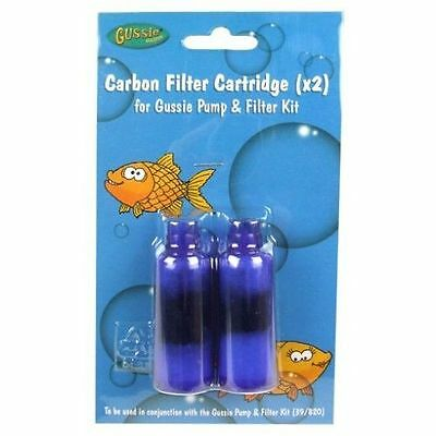 New Gussie Carbon Filter Cartridge X 1 Double Pack To Fit 39/820 Aquarium Fish