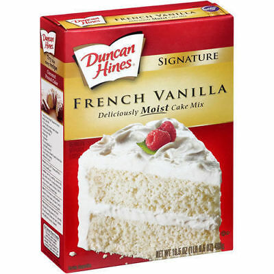 Duncan Hines Moist Deluxe French Vanilla Cake Mix 468g American Cake Mix