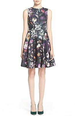 6837179881781 NWT TED BAKER London Vyra  Floral Print Tunic Dress MSRP   338 Size ...