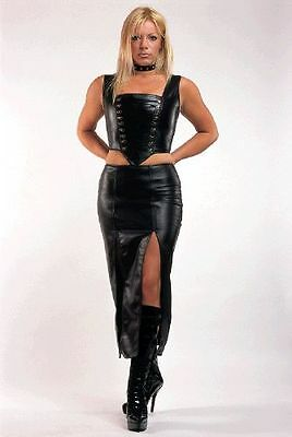 The Federation Faux Leather Corset Bustier Top  Brand New