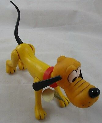Vintage Walt Disney Productions Pluto Dog Plastic Doll Figure Toy Tag Hong Kong