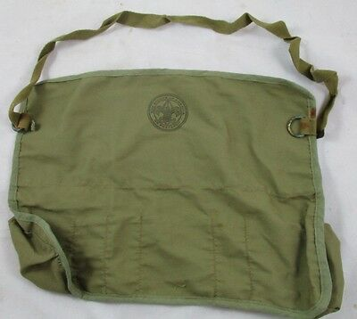 Vintage Boy Scouts of America Green Kids Apron Tool First Aid Work with Pockets