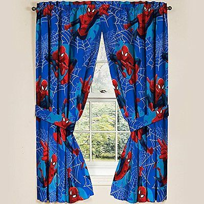 "Marvel Ultimate Spiderman Spider-Man Panels Drapes Curtains, Set of 2, 42"" x 63"""