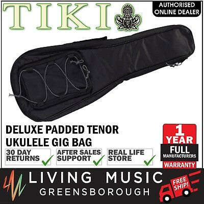 New Tiki Deluxe Black Tenor Uke Ukulele Bag