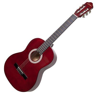 New Lorden Acoustic Guitar for Adults Full Size Beginner Nylon String (Wine Red)