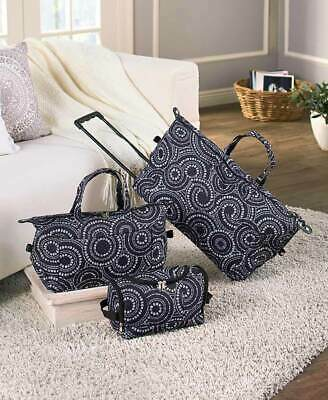 3 MEDALLION LUGGAGE ROLLING DUFFEL TOTE BAG TRAVEL COSMETIC CASE Weekend Carry