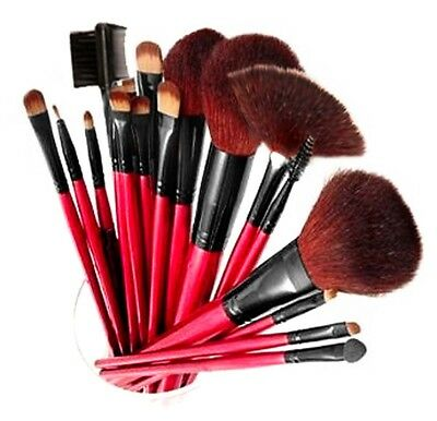 SHANY Professional 12 Piece Natural Goat and Badger Cosmetic Brush Set with Pouc