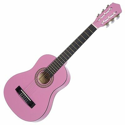 NEW Sanchez Classical Guitar for Kids 1/2 Size Beginner Nylon Strings (Pink)