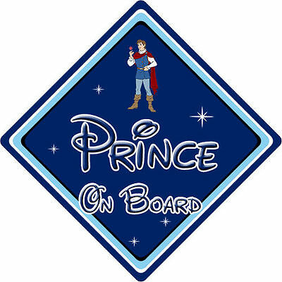 Disney Prince On Board Car Sign - Baby On Board - Snow White Prince Ferdinand DB