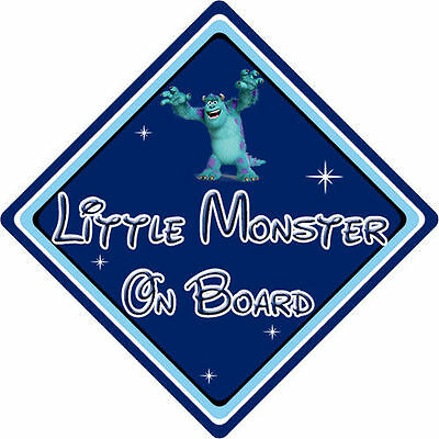 Little Monster On Board Car Sign – Baby On Board – Disney Monsters Inc Sully DB