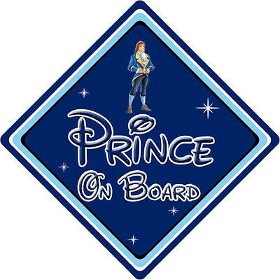 Disney Prince On Board Car Sign - Baby On Board - Beauty & The Beast DB