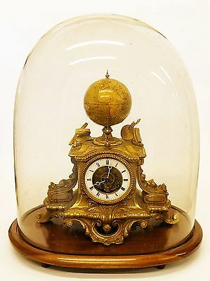 1870 Astronomical Mantel Clock with Smith Terrestrial Globe - Very heavy bronze?