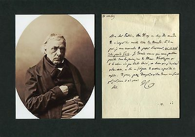FRENCH PHILOSOPHER Victor Cousin autograph, handwritten letter signed