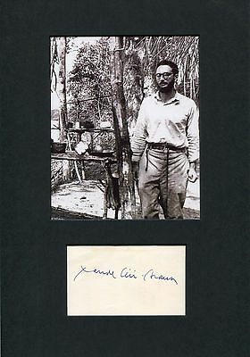 ANTHROPOLOGIST Claude Levi-Strauss autograph, signed album page mounted