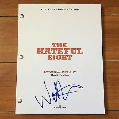 WALTON GOGGINS SIGNED THE HATEFUL EIGHT FULL MOVIE SCRIPT SCREENPLAY w/ PROOF