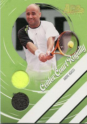 2006 Ace Heroes & Legends Center Court Royalty Andre Agassi Gold # 37/50