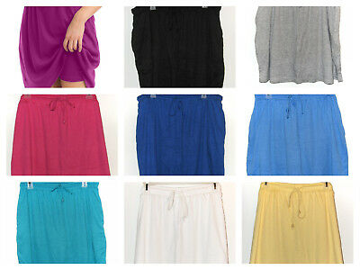 Woman Within Size 18W 20W Large Cotton Sport Knit SKORT Tie Waist Choose Color