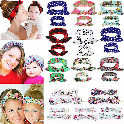 Be Mum Baby Mother Daughter Women Girls Parent Child Bow Knot Headband Hairband