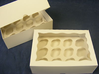 2 x MINI cup cake / muffin window boxes - hold 12 cakes