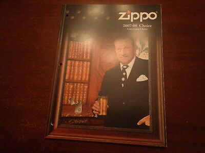 Full Size 2007/08 Choice Zippo Lighter Catalog Unused 75Th Anniversary Edition