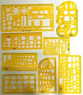 Technical Drawing Stencils Templates Architectural Mechanical Chemistry Stencil