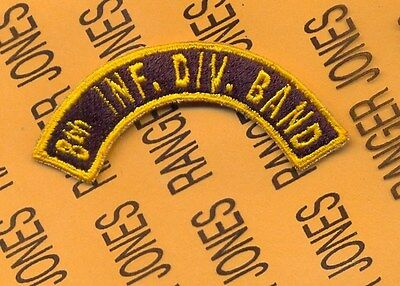 US Army 8th INF DIV BAND Infantry Division tab arc patch