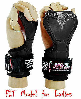 Cobra Grips FIT Weight Lifting Straps Power Lifting Grip Pad 2 Gloves Wrap
