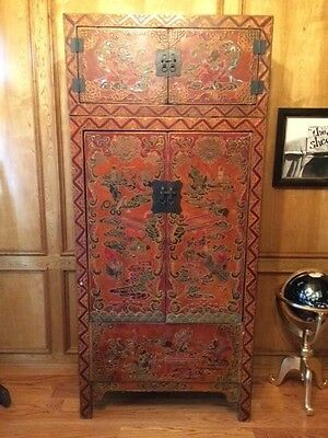Chinese Wardrobe (Two Piece Antique)