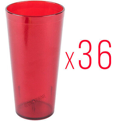 36 New, 16 oz. Restaurant Tumbler Beverage Cup, Stackable Cups