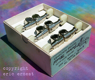 USA Grover Futura tuners vintage Gibson Guitars nickel plated ACE FREHLEY NOS!