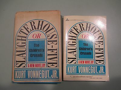 Kurt Vonnegut Slaughterhouse-Five FIRST EDITION 1st Printing DJ + 4 Play, Mother