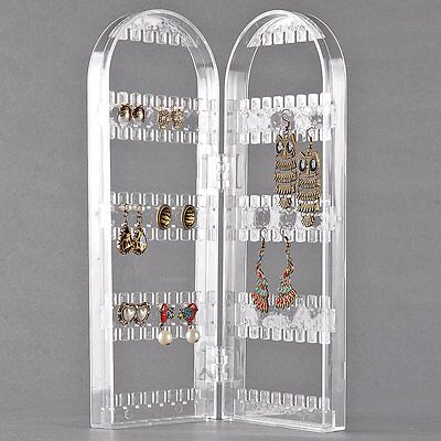 Show Holes Rack 120 Jewelry New Stand Holder Earring Plastic Clear Display