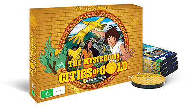 The Mysterious Cities of Gold (Complete Series) NEW PAL Kids Cult 5-DVD Set