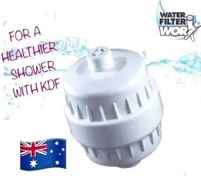 White Shower Water Filter |Easy Fit Complete With Cartridge With Kdf ✅