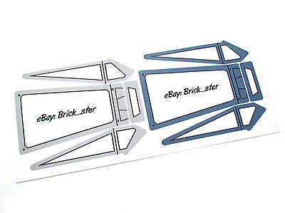 CANOPY STICKERS for LEGO 10240 X-Wing Starfighter, MODELS,CUSTOMS,ETC. 2 COLOURS