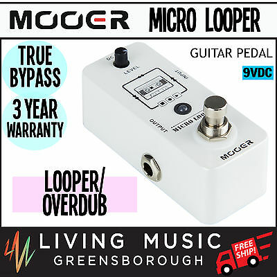 NEW Mooer Micro Looper Loop Recording Micro Guitar Effects Pedal True Bypass
